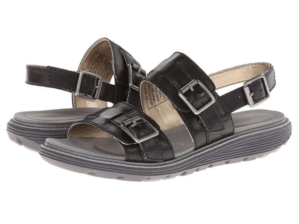 Rockport - TruWALKzero Low Sandal Buckle 2 Band (Black) Women's Sandals