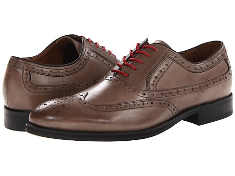 Johnston & Murphy - Tyndall Wingtip (Taupe Italian Calfskin) Men's Lace Up Wing Tip Shoes