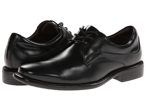 Johnston & Murphy - Tilden Plain Toe (Black Smooth Calfskin) Men