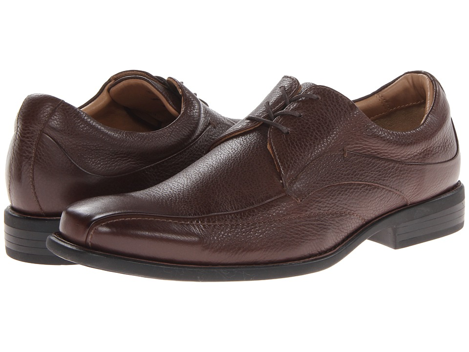 Johnston & Murphy - Tilden Lace-Up (Dark Brown Tumbled Calfskin) Men's Shoes