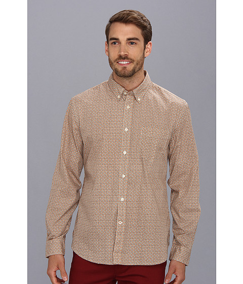 Dockers Men's - Alpha Printed L/S Laundered Shirt (Hipolito Rose) Men's Long Sleeve Button Up