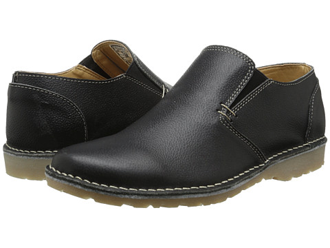 Type Z - Tyler (Black Leather) Men's Flat Shoes