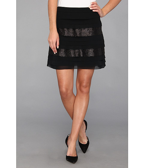 BCBGeneration - Tiered Skirt (Black) Women