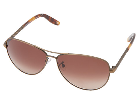 Bottega Veneta - 252/F/S (Semi Matte Brass/Brown Gradient) Fashion Sunglasses