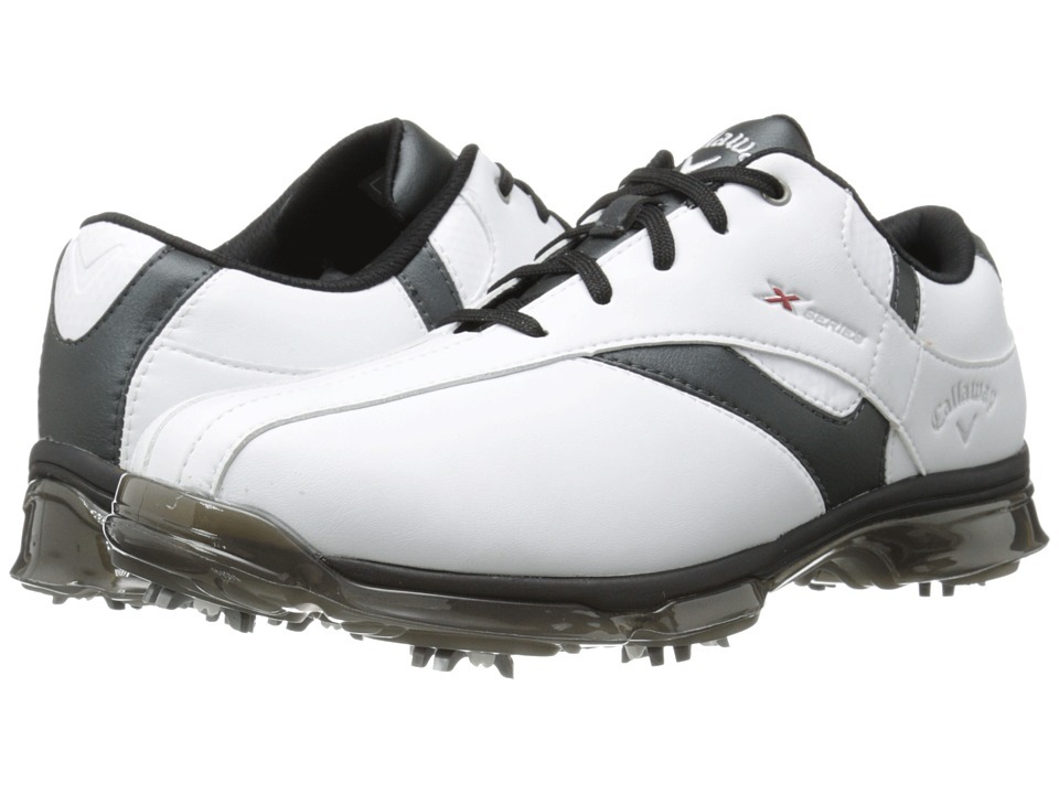 Callaway - X Nitro (White/Black) Men's Golf Shoes