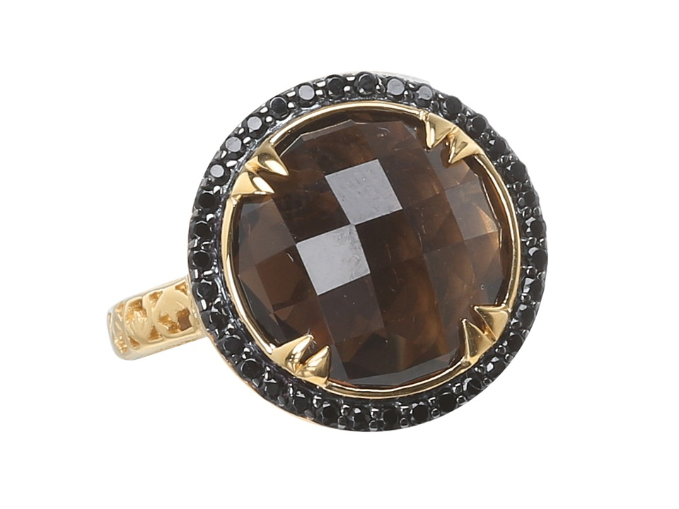 DeLatori - Smokey Quartz Ring - 20-08-P422-33 (Sterling Silver/Smoky Quartz) Ring