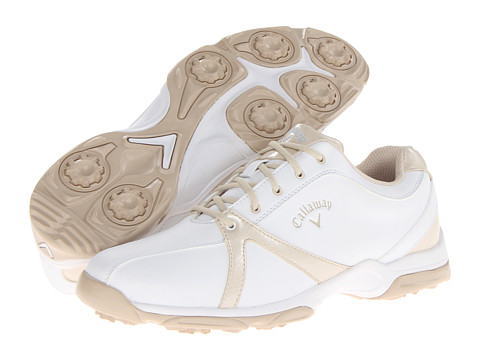 Callaway - Cirrus (White/Bone) Women's Golf Shoes