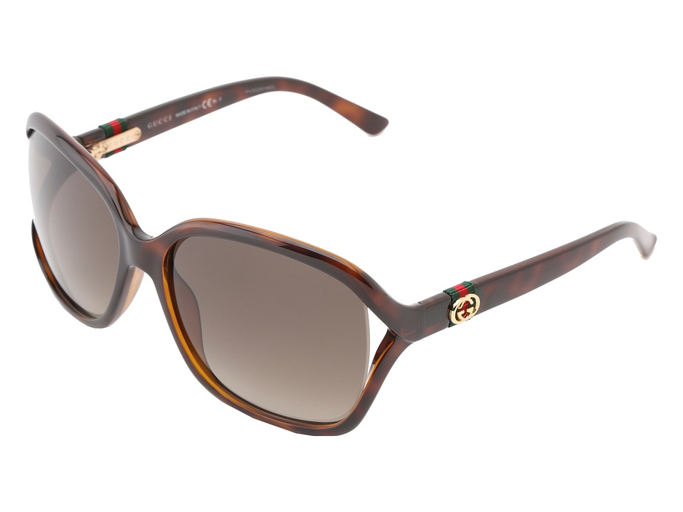 Gucci - GG 3646/S (Havana/Brown Gradient) Fashion Sunglasses
