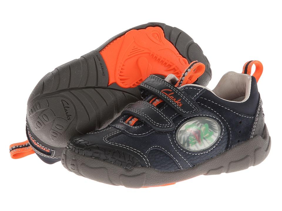 Clarks Kids Stompojaw Boys Shoes (Navy)