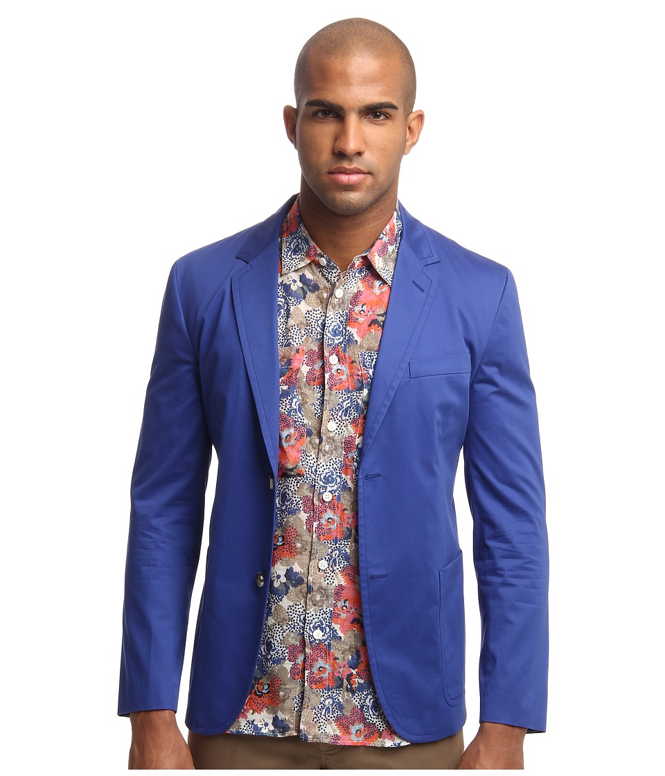 Marc Jacobs - Cotton Blazer (Cobalt/Cobalt/Academy) Men's Jacket