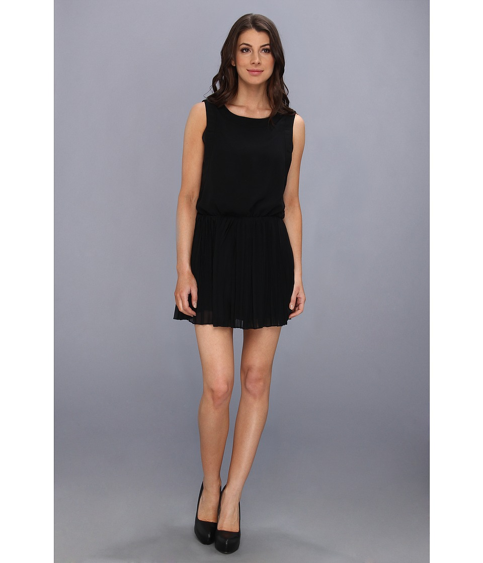 BCBGeneration - Pleat Waist Dress (Black) Women's Dress