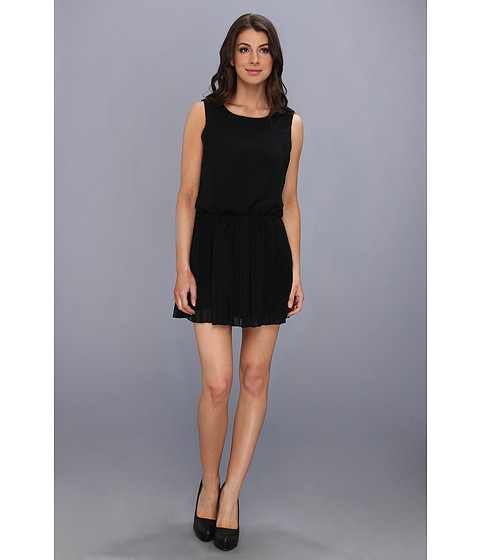 BCBGeneration - Pleat Waist Dress (Black) Women