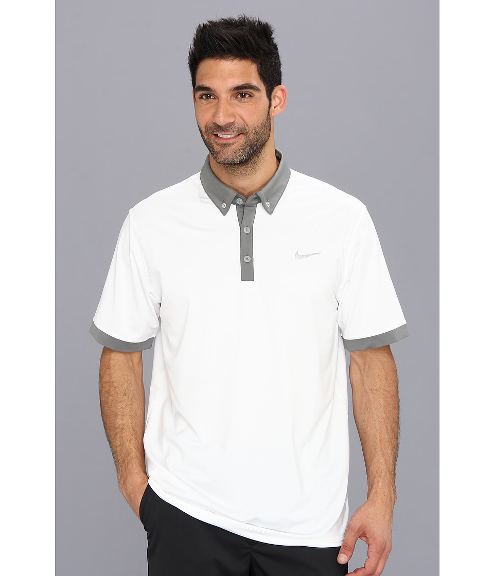 Nike Golf - Nike Ultra Polo 2.0 (White/Medium Base Grey/Metallic Silver) Men's Short Sleeve Knit