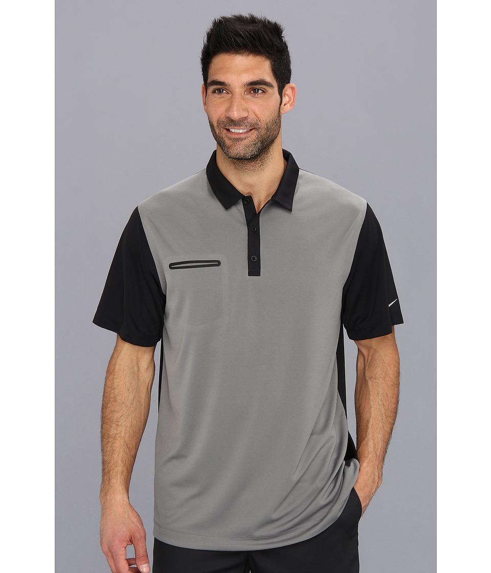 Nike Golf - Lightweight Innovation Color Polo (Medium Base Grey/Black/Black/Metallic Silver) Men