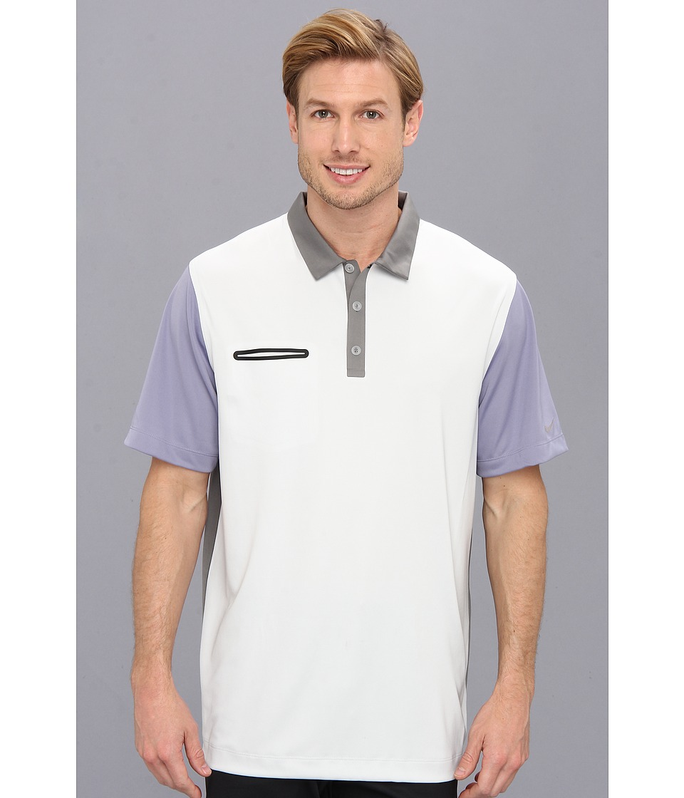Nike Golf - Lightweight Innovation Color Polo (Light Base Grey/Iron Purple/Medium Base Grey/Metallic Silver) Men's Short Sleeve Knit