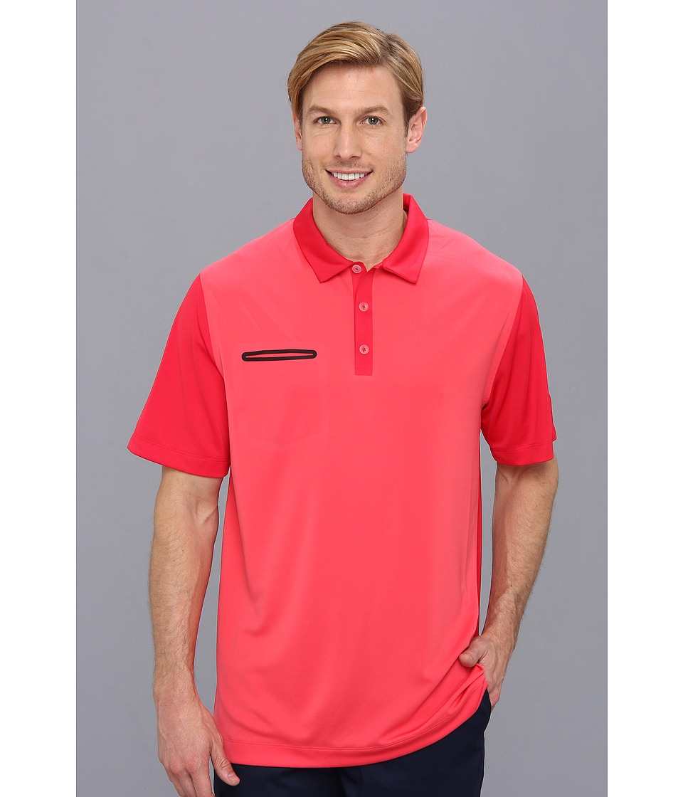 Nike Golf - Lightweight Innovation Color Polo (Geranium/Legion Red/Legion Red/Metallic Silver) Men's Short Sleeve Knit