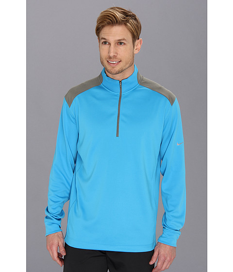 Nike Golf - Dri-FIT Performance 1/2 Zip Pullover (Vivid Blue/Medium Base Grey/Night Factor/Metallic Silver) Men