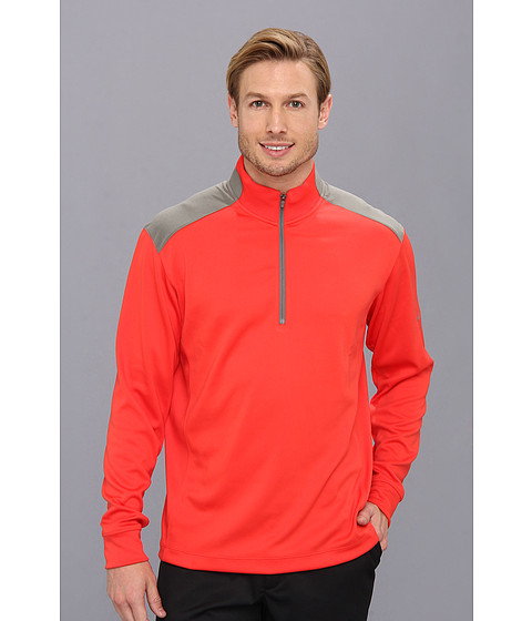 Nike Golf - Dri-FIT Performance 1/2 Zip Pullover (Light Crimson/Medium Base Grey/Medium Base Grey/Metallic Silver) Men's Long Sleeve Pullover