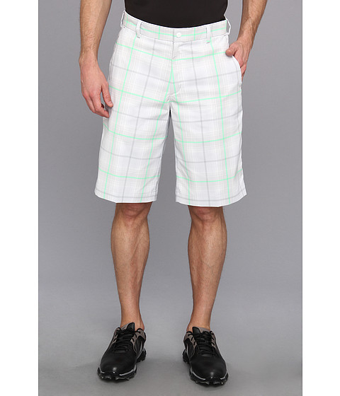Nike Golf - Nike Golf Tartan Short (Summit White/Light Lucid Green/Medium Base Grey) Men's Shorts