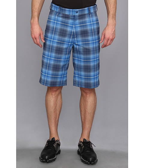 Nike Golf - Nike Golf Tartan Short (Military Blue/Medium Base Grey) Men's Shorts