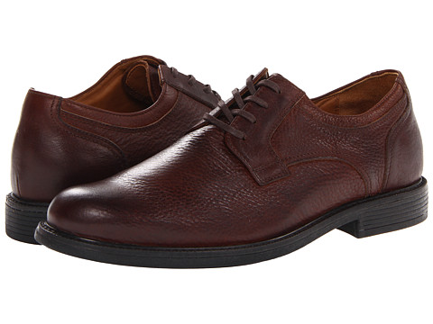 Johnston & Murphy - Cardell Plain Toe (Mahogany Waterproof Full Grain) Men's Plain Toe Shoes