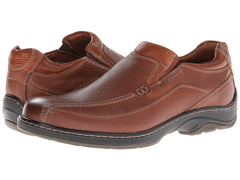 Johnston & Murphy - Fairfield Runoff Venetian (Dark Tan Waterproof Full Grain) Men's Slip on Shoes