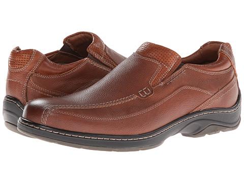 Johnston & Murphy - Fairfield Runoff Venetian (Dark Tan Waterproof Full Grain) Men's Slip on Shoes
