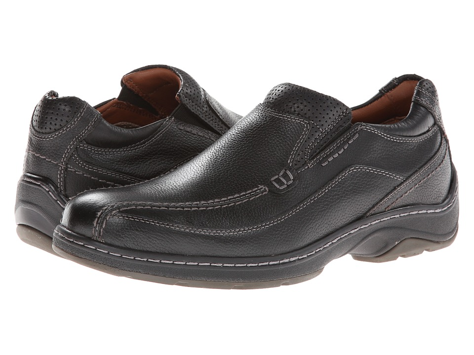 Johnston & Murphy - Fairfield Runoff Venetian (Black Waterproof Full Grain) Men's Slip on Shoes