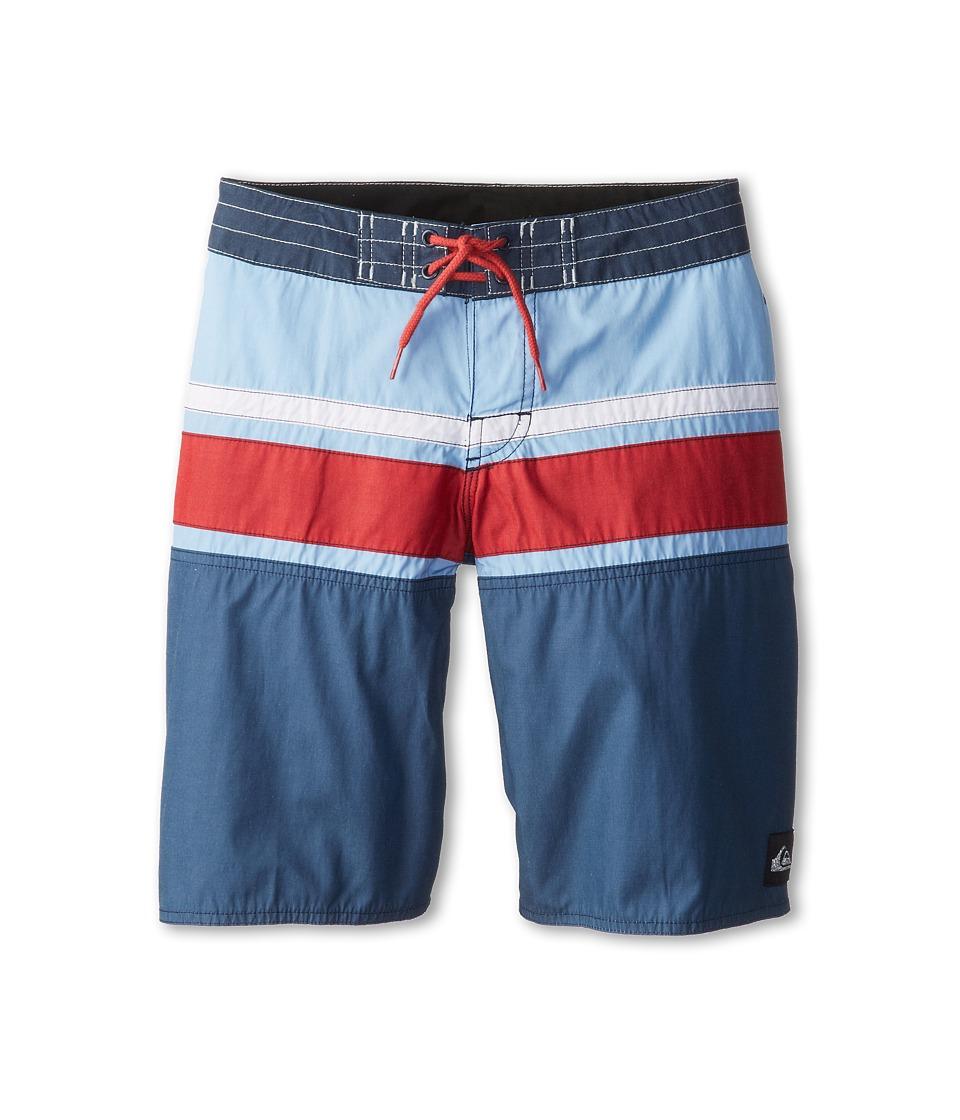 Quiksilver Kids Panel Stripe Boardshort Boys Swimwear (Navy)