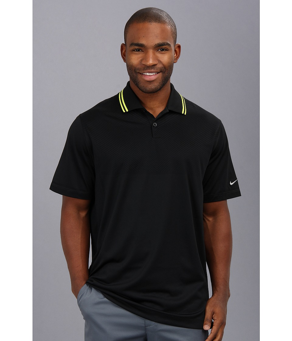 Nike Golf - Innovation Dri-FIT Knit Cool Polo (Black/Metallic Silver) Men's Short Sleeve Pullover