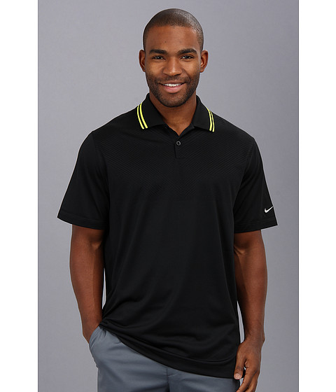 Nike Golf - Innovation Dri-FIT Knit Cool Polo (Black/Metallic Silver) Men