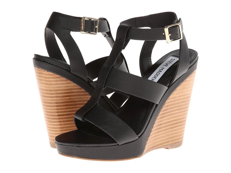 Steve Madden - Iris (Black) Women's Wedge Shoes