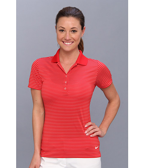 Nike Golf - Nike Tech Stripe Polo (University Red/White) Women's Short Sleeve Pullover