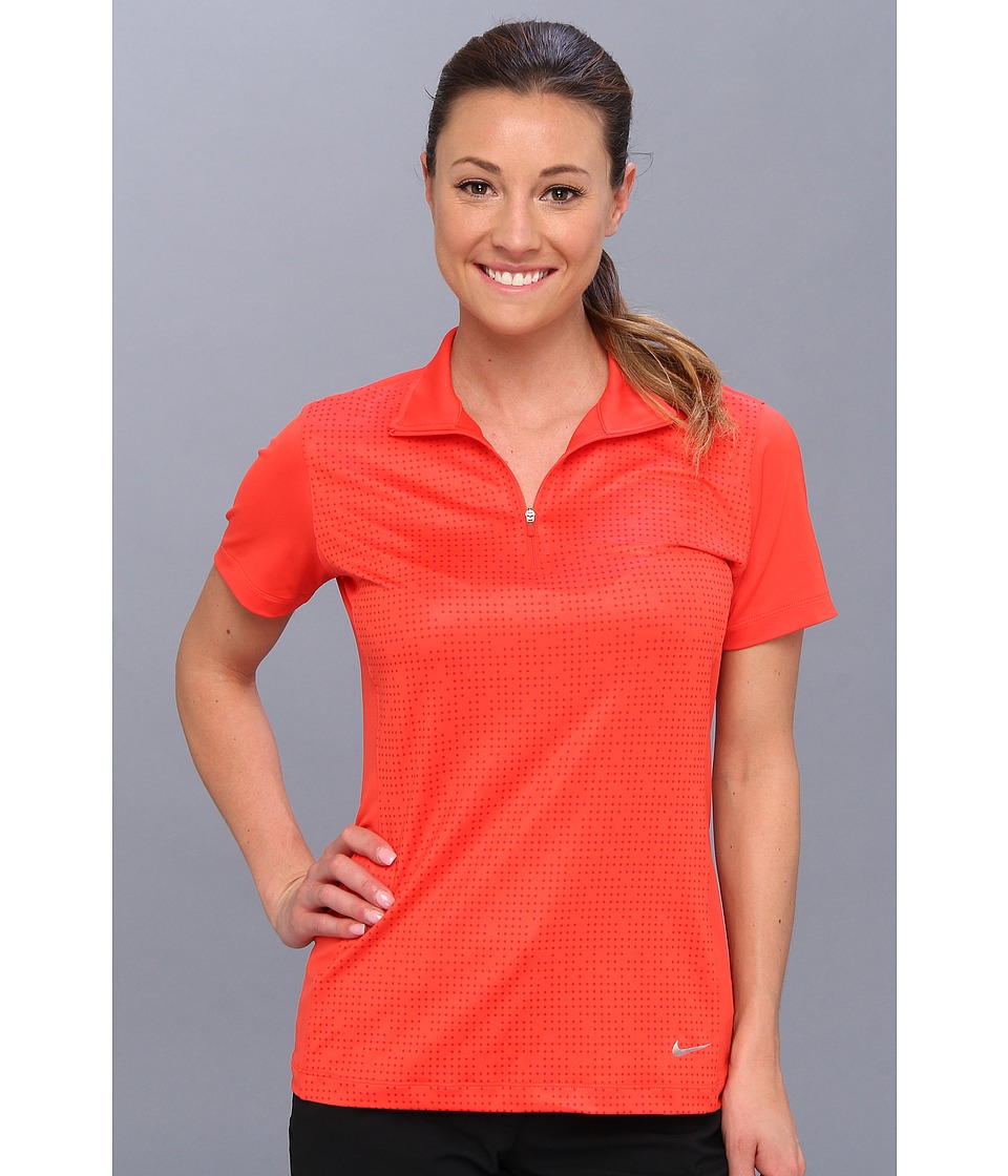 Nike Golf - Convert 1/2 Zip Top (Light Crimson/Light Arctic Pink/Metallic Silver) Women's Short Sleeve Pullover