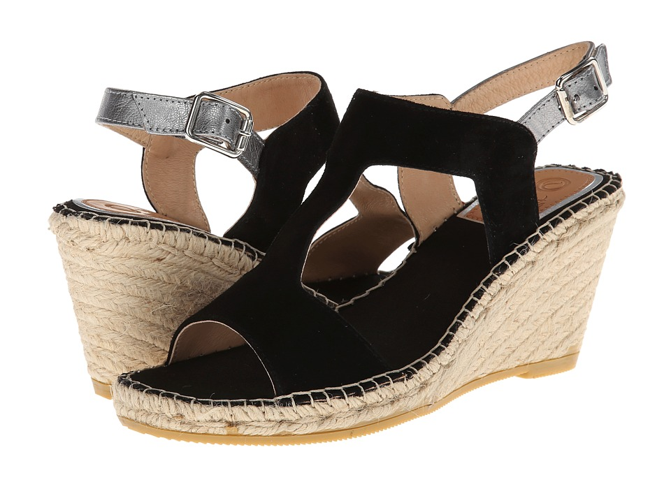Vidorreta - Jose (Black Suede) Women's Wedge Shoes