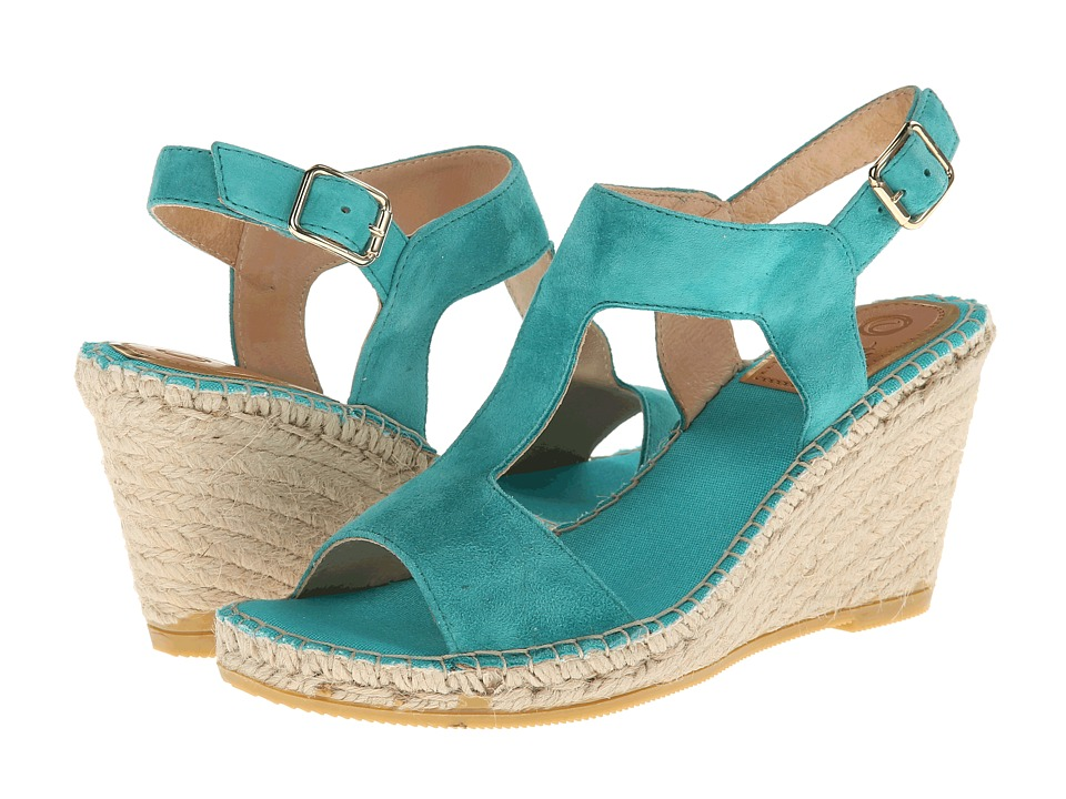 Vidorreta - Jose (Green Suede) Women's Wedge Shoes
