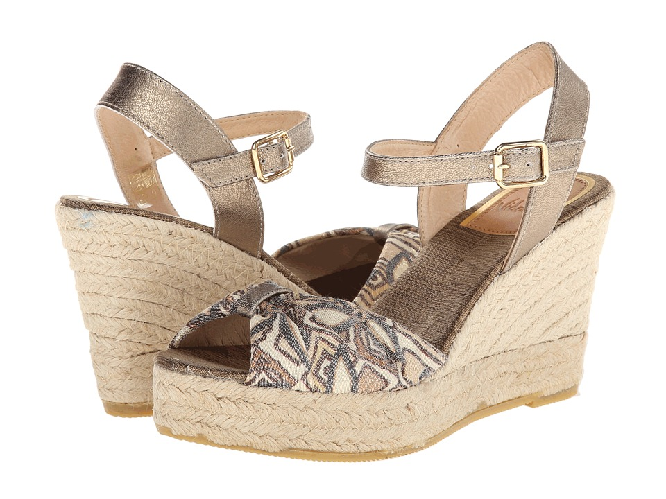 Vidorreta - Jaylyn (Brown Print) Women's Wedge Shoes