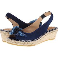 Vidorreta Justina (Azul Suede) Women's Wedge Shoes