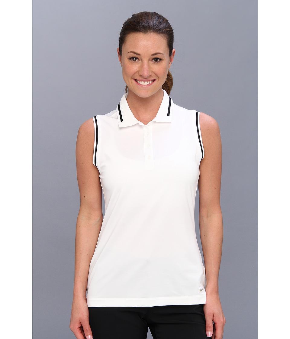 Nike Golf - Key Sleeveless Polo (White/Metallic Silver) Women's Sleeveless