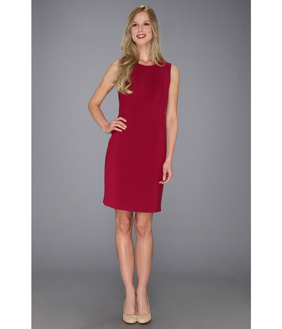 Anne Klein Crew Neck Sheath Dress Womens Dress (Red)