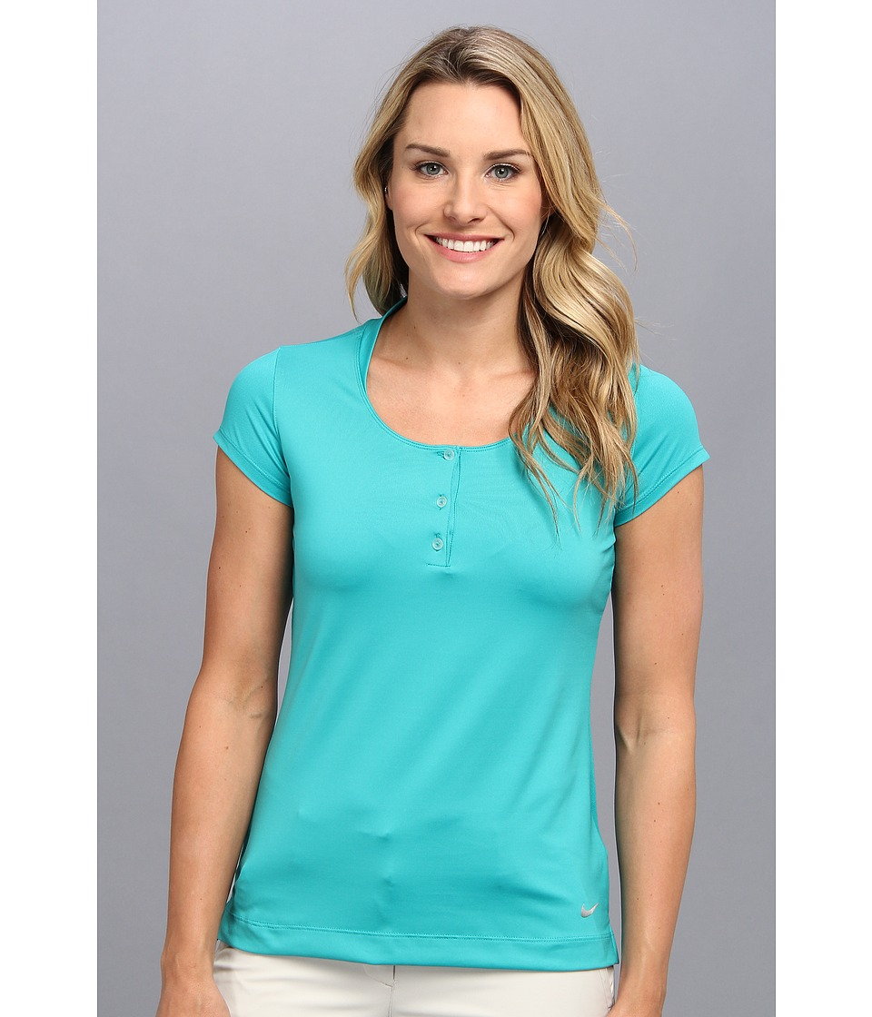 Nike Golf - Mesh Back Polo (Turbo Green/Turbo Green/Metallic Silver) Women's Short Sleeve Knit