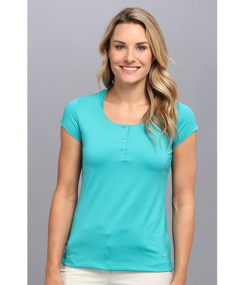 Nike Golf - Mesh Back Polo (Turbo Green/Turbo Green/Metallic Silver) Women's Short Sleeve Knit