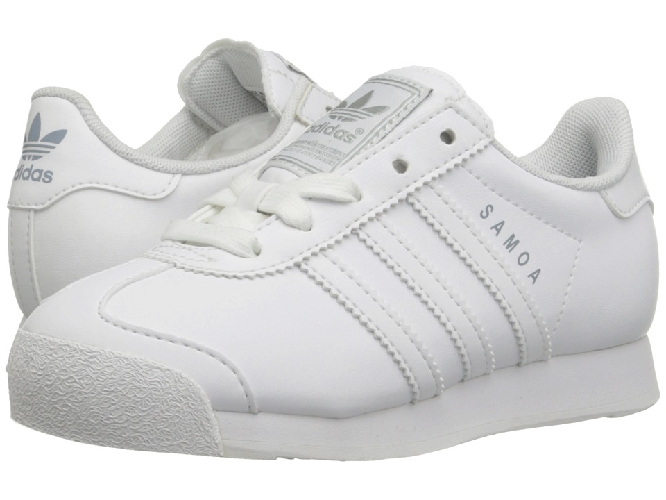 adidas Originals Kids - Samoa 2013 (Little Kid) (White/White/Silver) Kids Shoes