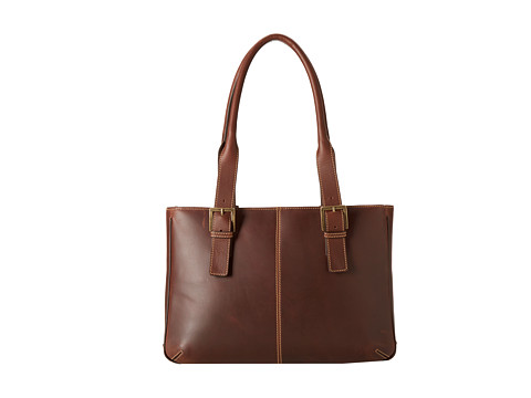 Boconi Bags and Leather Bryant Vintage E/W iPad Tote (Antique Mahogany Leather) Bags