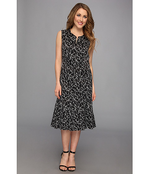 Pendleton - All-Day Dress (Black/Ivory Print) Women