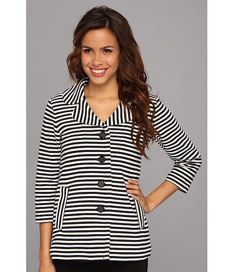 Pendleton - Stripe Knit Jacket (Black/Ivory) Women