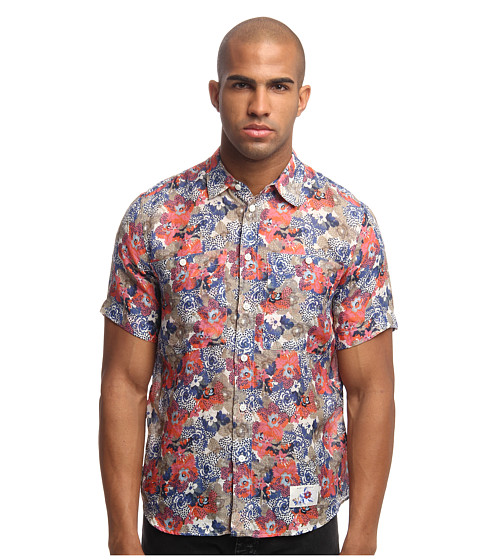 Marc Jacobs - Short Sleeve Tropical Floral Button Up (Pink) Men