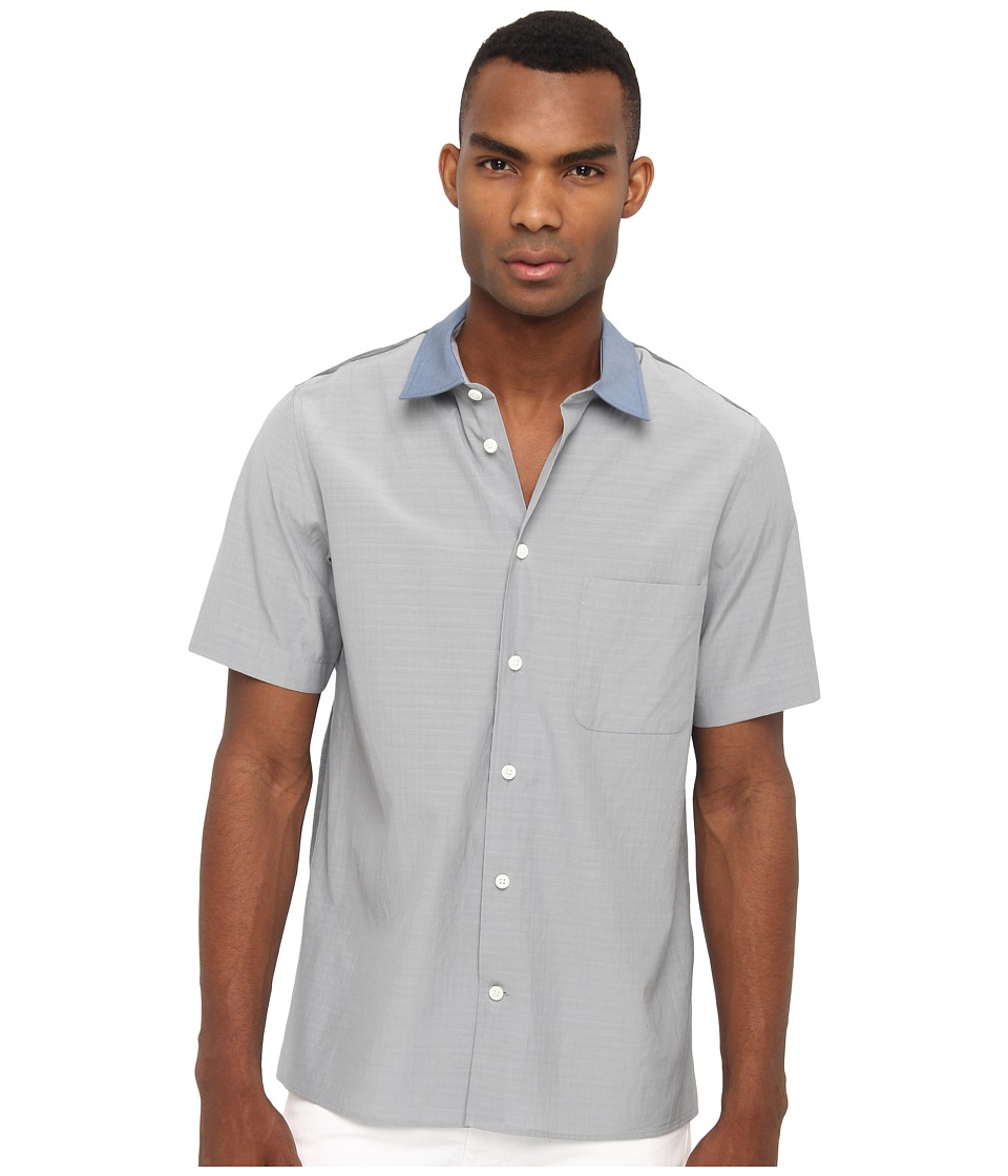 Marc Jacobs - Short Sleeve Colorblock Button Up (Stone Grey) Men