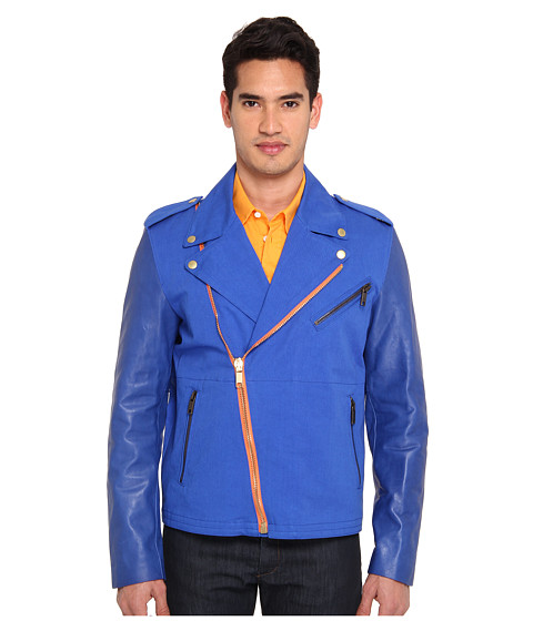 Marc Jacobs - Moto Jacket (Cobalt/Cobalt/Academy) Men's Jacket