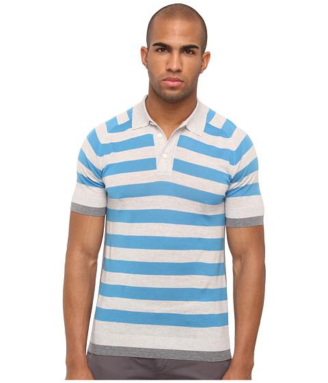 Marc Jacobs - Stripe Sweater Polo (Pop Blue Multi) Men